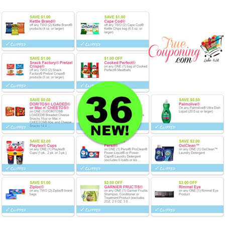 There's Thirty-Six (36!) NEW Coupons To PRINT Today! Save on Dial, OxiClean, Persil & More!