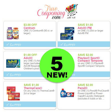WOW! FIVE (5!) NEW Coupons Today for Centrum, Advil, Playtex & Thermacare! PRINT Now!