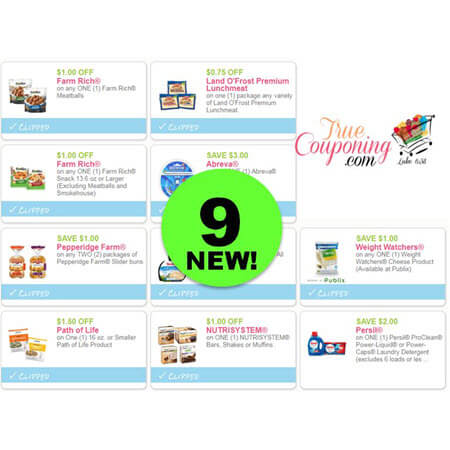 PRINT the NINE (9!) NEW Coupons for Farm Rich, Land O'Frost Lunchmeat, Pepperidge Farm & More!