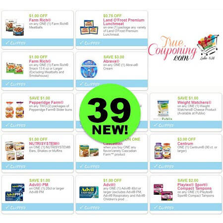 Don't Miss The Thirty-Nine (39!) NEW Coupons That Came Out This Week! PRINT Now!