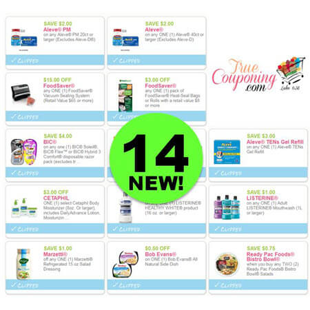 LOOK! There's Fourteen (14!) NEW Coupons To Print TODAY! Save on Bic, Aleve & More!