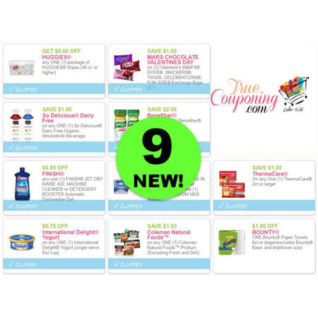 There's NINE (9!) NEW Coupons to PRINT for Finish, Huggies, Mars & More!