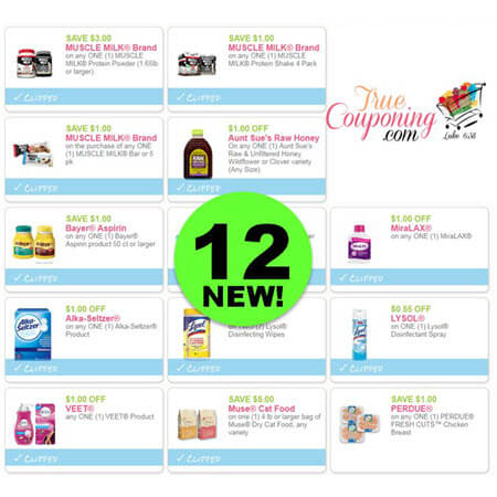 There's Twelve (12!) NEW Coupons To PRINT Today! Save on Lysol, Muscle Milk & More!
