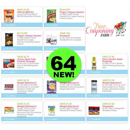 WAHOO! There's Sixty-Four (64!) NEW Coupons to PRINT Today!