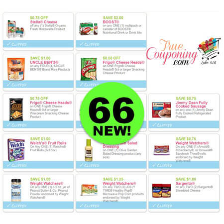 There's NOW Sixty-Six (66!) NEW Coupons to PRINT This Week!