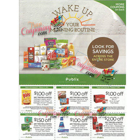 Publix Wake Up Your Morning Routine Coupon Flyer In The