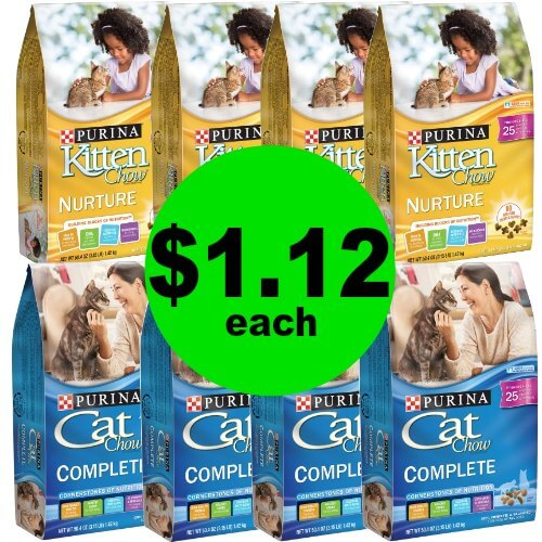 Kitties Eat Cheap! Grab Purina Cat or Kitten Chow Bags for $1.12 Each at Publix! (1/21 – 1/23 or 1/24)