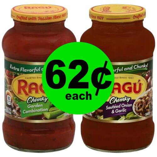 How is Your Supply of Pasta Sauce? Stock Up on 62¢ Ragu Pasta Sauce at Publix! (1/11-1/17 or 1/10-1/16)
