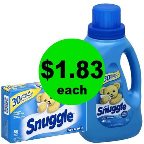 Snuggle Stock Up Deal! Get Snuggle Softener Liquid or Sheets for $1.83 Each at Publix! (Ends 1/9 or 1/10)