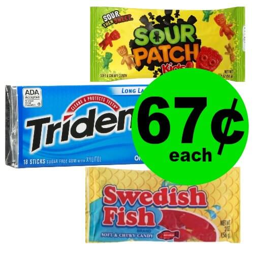 Pick Up Trident, Stride, Dentyne Gum, Swedish Fish or Sour Patch Kids for 67¢ Each at CVS!