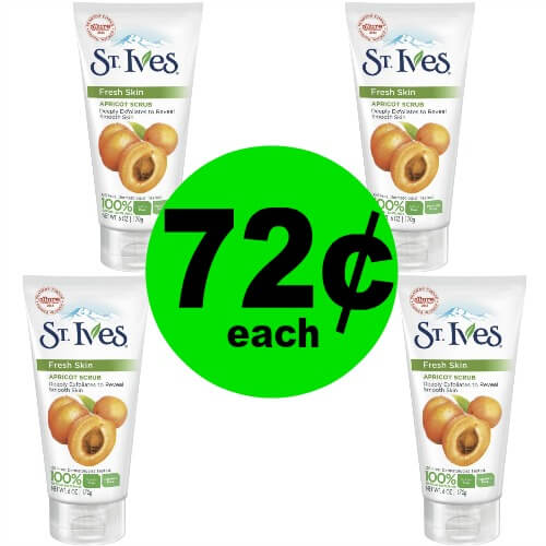 Spoil Your Face with 72¢ St. Ives Face Scrubs at CVS! (1/14 – 1/20)