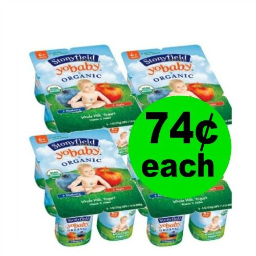 (Updated) Score Stonyfield Organic Yogurt Multipacks As Low As 74¢ Each at Publix! (1/20 – 2/2)
