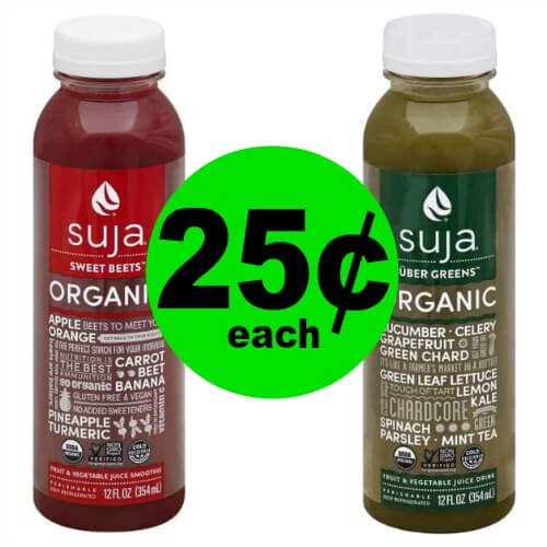 Are You Thirsty? Snag 25¢ Suja Juice at Publix! (Ends 1/16 or 1/17)