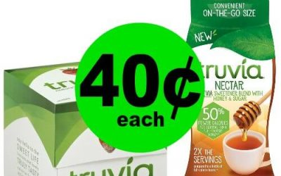 PRINT NOW!! Truvia Sweetener are 40¢ Each at Publix! (1/25-1/31 or 1/24-1/30)