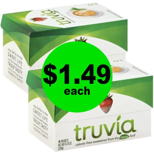 It's a Sweet Deal! Nab Truvia Sweetener for $1.49 Each at Publix! (Ends 1/19)