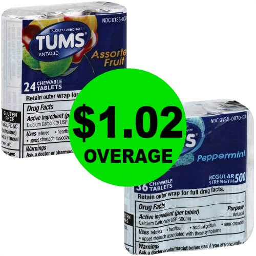 TWO (2!) FREE + $1.02 OVERAGE On Tums Tablets at Publix! (Ends 2/25)