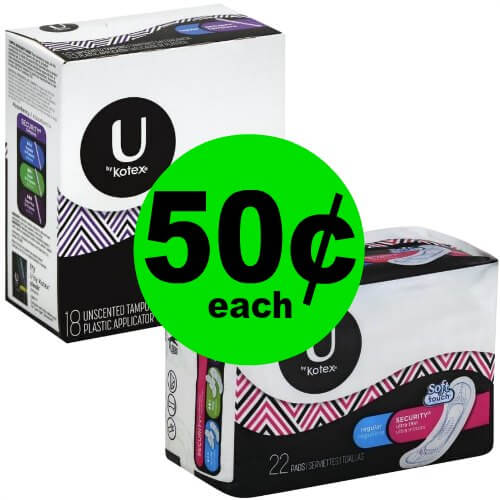 CHEAP Feminine Products Deal! Grab U by Kotex Tampons, Pads & Pantiliners for 50¢ Each at Publix! (1/18-1/24 or 1/17-1/23)