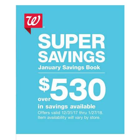 Walgreens JANUARY 2018 Coupon Savings Booklet (Valid 12/31/17 – 1/27/18)