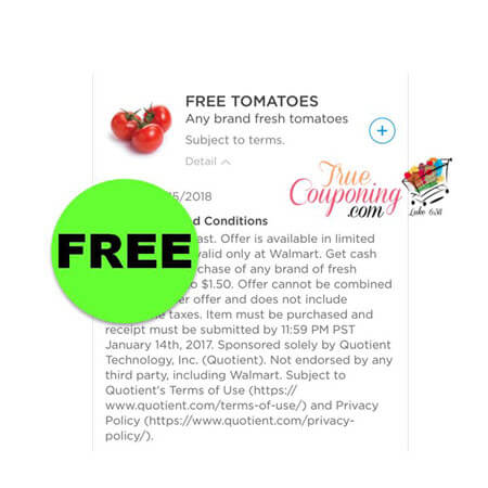 Don't Miss Your FREE Tomatoes at Walmart! (Ends 1/14)
