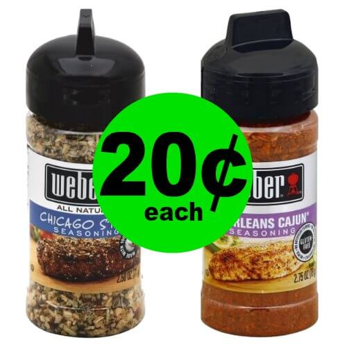Spice Things Up with 20¢ Weber Seasonings at Publix! (Ends 1/16 or 1/17)