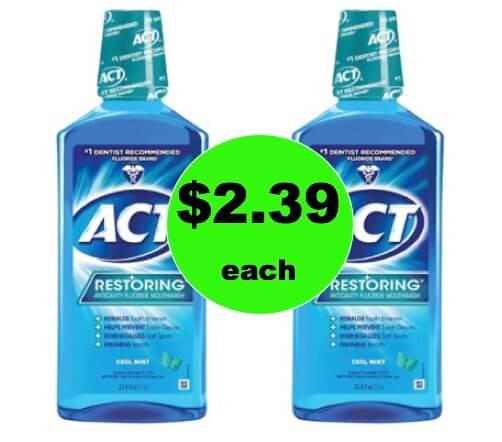 Swish Away with $2.39 Act Mouthwash BIG Bottles at Target! (Ends 1/20)