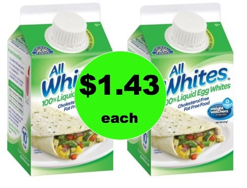 Cut the Cholesterol with $1.43 All Whites 100% Liquid Egg Whites at Walmart!