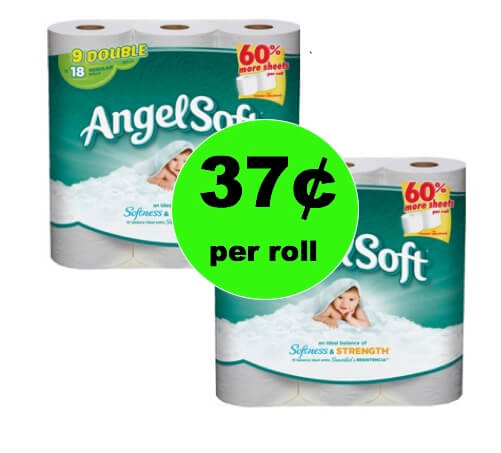 Pick Up Angel Soft Bath Tissue Only 37¢ per Roll at Winn Dixie This Weekend! (1/13-1/14)