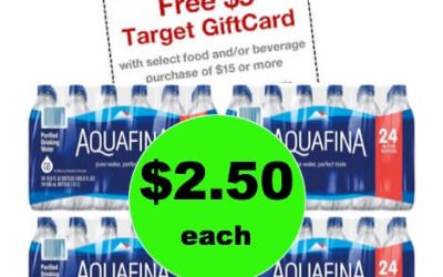 Don't Miss Out on $2.50 Aquafina Bottled Water 24 Packs at Target! (Ends 1/20)
