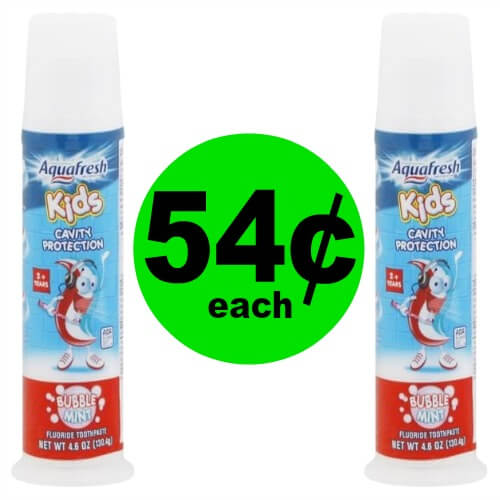Keep the Kids Fresh! Aquafresh Kids Toothpaste is 54¢ Each at Publix! (Ends 2/25)