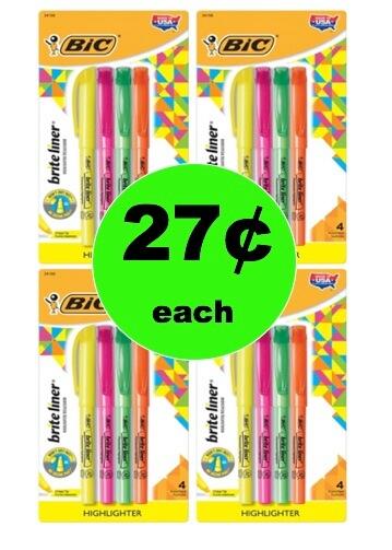 Pick Up 27¢ BIC Brite Liner Highlighters 4-Packs at Target! (Ends 2/3)