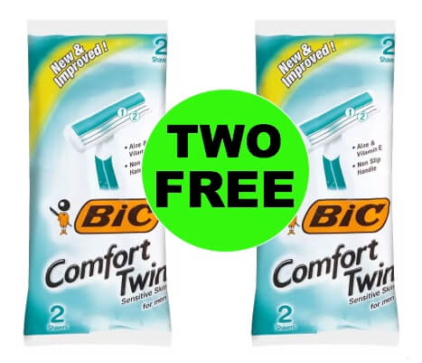 TWO (2!) FREE Bic Comfort Twin Disposable Razors at Walgreens! (Ends 3/3)