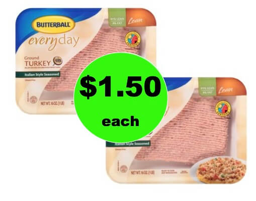 Cheap Meat! Pick Up Butterball Ground Turkey Only $1.50 Each at Winn Dixie! (Ends 1/16)