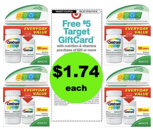 Stock Up on Centrum Multivitamin Packs Only $1.74 Each at Target! (Ends 1/13)