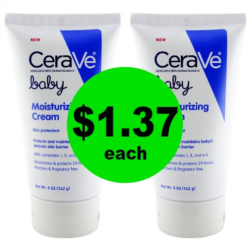 Head to CVS to Grab CeraVe Baby Moisturizing Cream for $1.37 Each (Reg. $10.50)! (Ends 2/3)