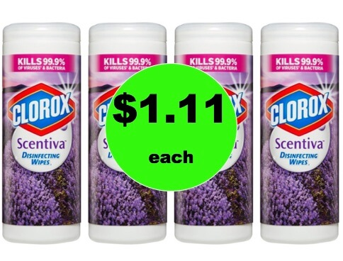 Wipe Out the Germs with $1.11 Clorox Scentiva Disinfecting Wipes at Target! (Ends 2/3)