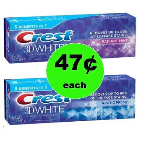 Smile Pretty with 47¢ Crest 3D White Toothpaste at Walmart! (Ends 1/13)