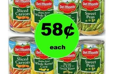 STOCK UP on Del Monte Canned Veggies Only 58¢ Each at Winn Dixie! (Ends 1/23)