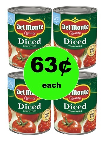 Pick Up Del Monte Canned Tomatoes Only 63¢ Each at Winn Dixie! (1/31-2/2)