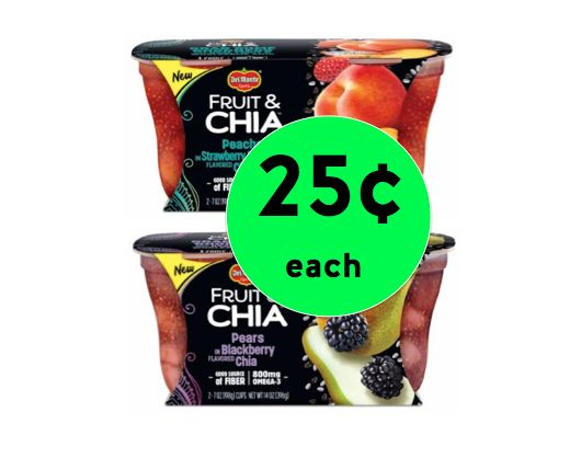 Cheap Healthy Snack with 25¢ Del Monte Fruit & Chia at Winn Dixie! (3/21-3/27)