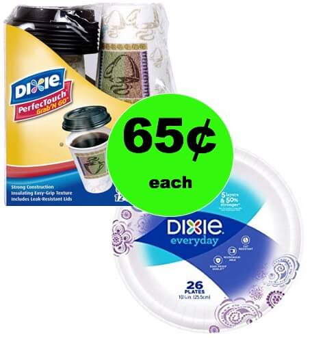 Clean Up's Easy with Dixie Plates and Grab 'n Go Cups Only 65¢ Each at Winn Dixie! (Ends 2/6)