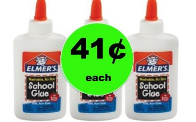 Be Ready for End of the Year Projects with 41¢ Elmer's Washable Glue at Walmart!