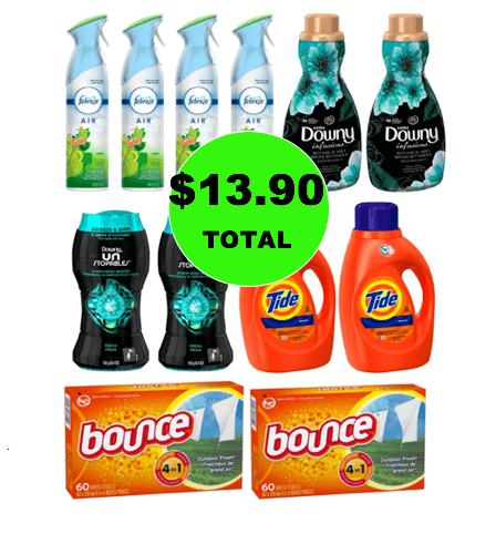 For Just $13.90, Get (4) Febreze Air Effects & (8) Laundry Products at Target! (Ends 1/6)