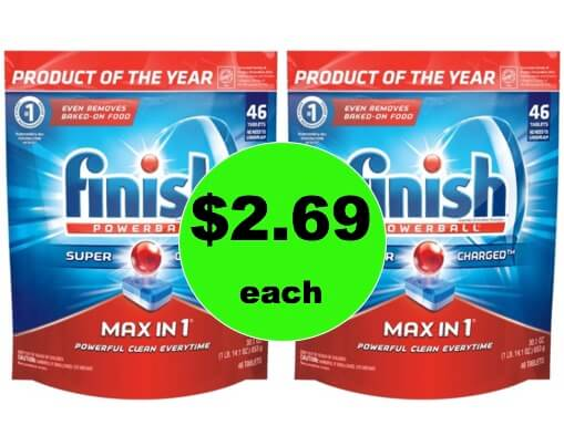 Clean Up with $2.69 Finish Max in 1 Detergent (Reg. $8) at Target! (Ends 1/20)