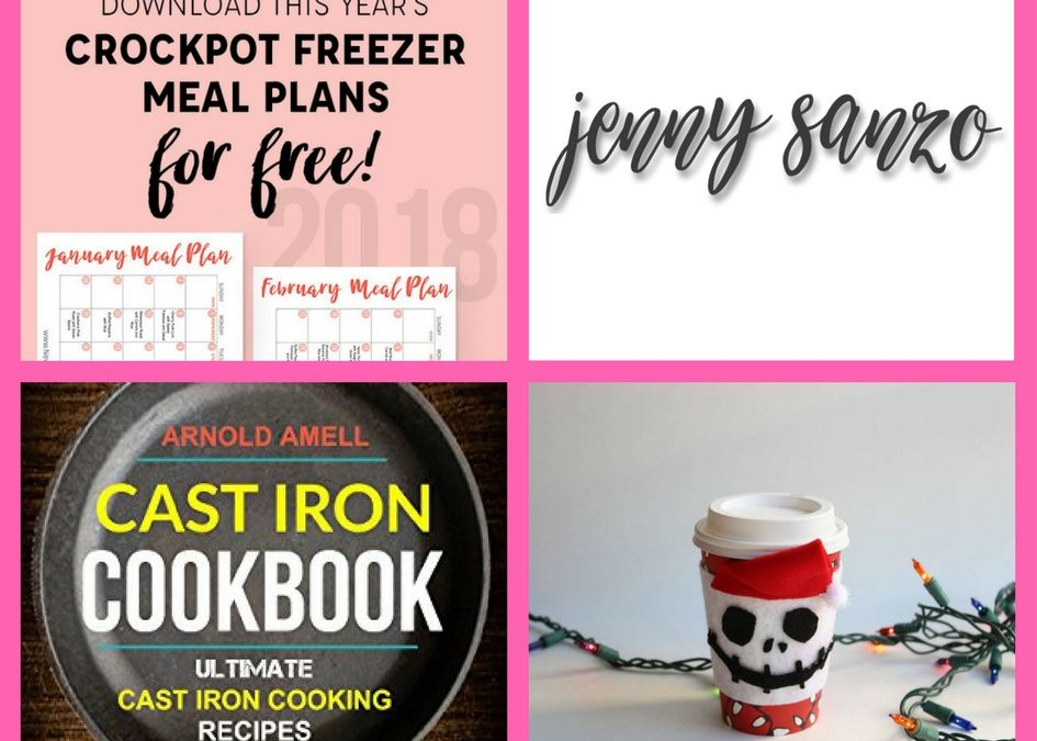Did You See These FOUR (4!) FREEbies: Crock Pot Meal Plan for the Year, Jenny Sanzo Hair Care, Cast Iron Cookbook and Jack Skellington Cozy Cup Craft!
