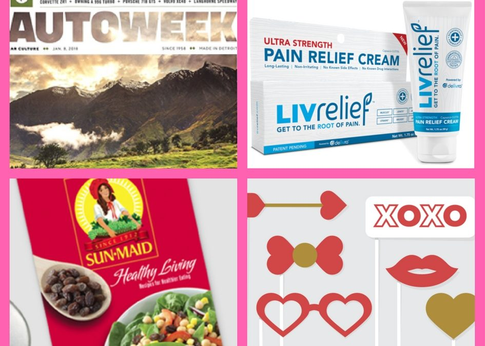 Did You See These FOUR (4!) FREEbies: FREE One Year Subscription to Autoweek Magazine, Sun-Maid Healthy Living Booklet and Valentine's Day Printables!