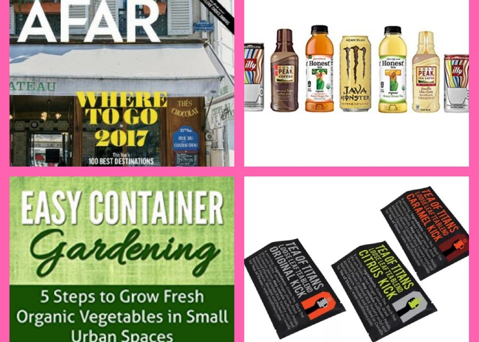 Don't Miss Out on These FOUR (4!) FREEbies: One-Year Subscription to Afar Magazine, Tea and Coffee Amazon Box, Container Gardening eBook and Tea!