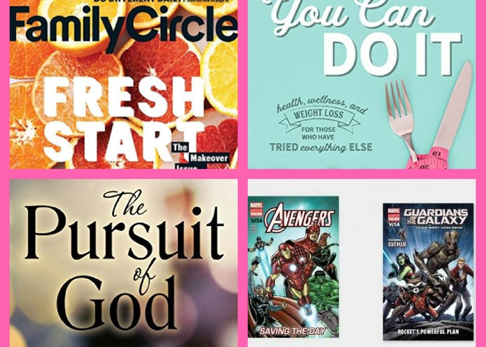 Did You See These FOUR (4!) FREEbies: One-Year Subscription to Family Circle Magazine, You Can Do It eBook, The Pursuit of God eBook and Marvel Comic Books!