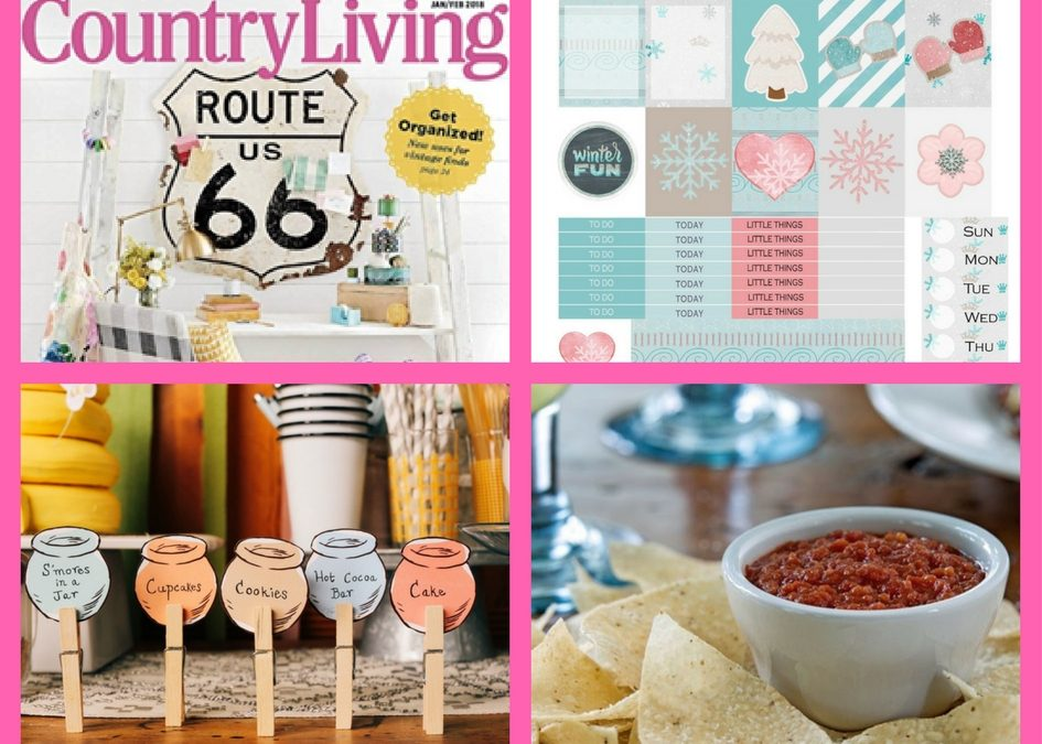 Don't Miss These FOUR (4!) FREEbies: One-Year Subscription to Country Living Magazine, January Planner Printable, Winnie the Pooh Buffet Cards and Chips and Salsa from Chilis!