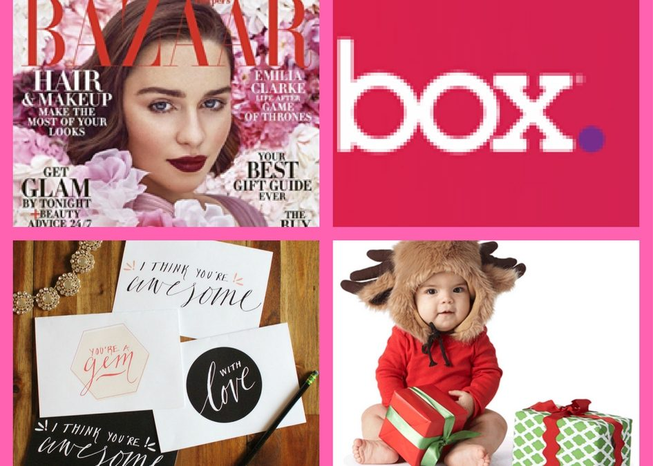 Did You See These FOUR (4!) FREEbies: One-Year Subscription to Bazaar Magazine, Redbox Rental Code, Printable Valentines Day Cards and Amazon Baby Registry Box!