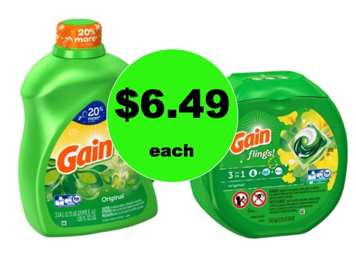 Pick Up Gain Detergent 5¢ Per Oz or 15¢ Per Fling at Target! (Ends 1/27)